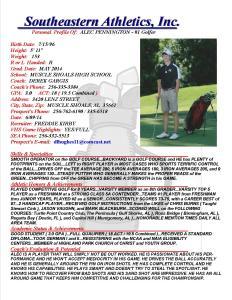 14 PENNINGTON, ALEC Golf k.