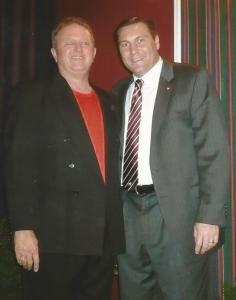 Glen Jackson and Mississippi State Football Coach Dan Mullen