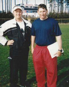 Glen Jackson and Itawamba CC Baseball Coach Rick Collier